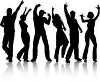 Dancing della gente Immagini Stock Libere da Diritti