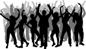 Dancing della gente Fotografie Stock
