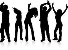 Dancing della gente Fotografia Stock