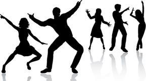 Dancing della gente Fotografie Stock Libere da Diritti