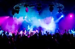 Dancing della gente al concerto Fotografia Stock