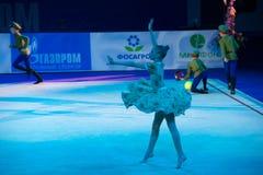 Dancing della ginnasta della ragazza Fotografie Stock
