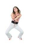 Dancing della giovane donna Immagini Stock