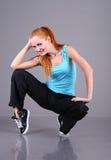 Dancing della giovane donna Immagine Stock Libera da Diritti