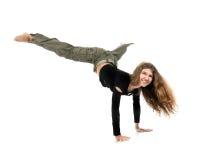 Dancing della giovane donna Fotografia Stock Libera da Diritti