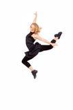 Dancing della giovane donna Fotografie Stock Libere da Diritti