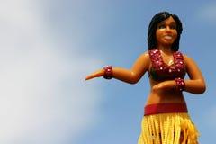 Dancing della ragazza di Hula fotografie stock