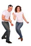 Dancing della ragazza e del giovane Fotografie Stock Libere da Diritti