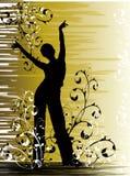 Dancing della ragazza in fiori Immagini Stock