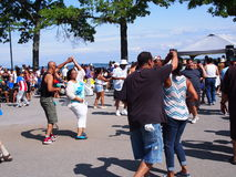 Dancing della salsa fotografia stock