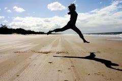 Dancing della spiaggia Fotografie Stock Libere da Diritti