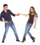 Dancing delle coppie Immagini Stock