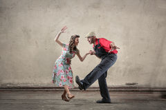 Dancing delle coppie Fotografie Stock