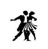 Dancing delle coppie Immagine Stock