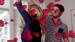 Dancing delle coppie video d archivio