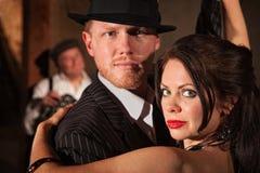 Dancing delle coppie di stile degli anni 20 Fotografie Stock