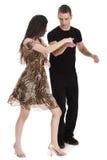 Dancing delle coppie insieme Fotografie Stock Libere da Diritti