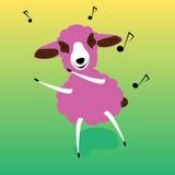 Dancing delle pecore Immagine Stock