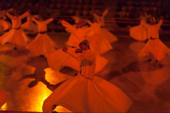 Dancing dervishes in Konya stock photography