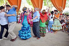 Dancing di flamenco Fotografia Stock Libera da Diritti