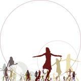 Dancing di forma fisica Immagine Stock Libera da Diritti