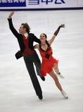 Dancing di ghiaccio Immagini Stock