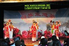 Dancing di minoranza etnica Fotografia Stock Libera da Diritti