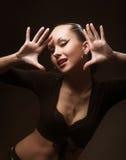Dancing di modello del feticcio Fotografie Stock