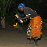 Dancing di notte Fotografia Stock