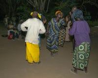 Dancing di notte Immagini Stock