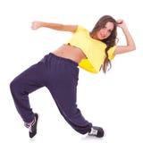 Dancing di rottura del danzatore della donna Fotografia Stock Libera da Diritti