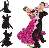 Dancing di sala da ballo Royalty Illustrazione gratis