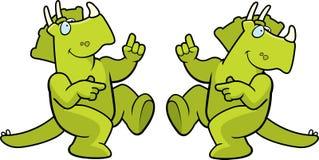 Dancing Dinosaur Royalty Free Stock Photography