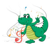 A dancing dinosaur Stock Image