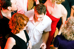 Dancing in the disco royalty free stock photography