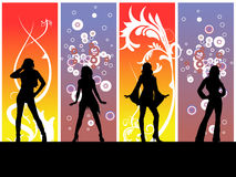 Dancing Disco Girls Stock Image