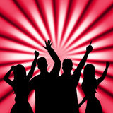 Dancing Disco Shows Cheerful Discotheque And Music Royalty Free Stock Image