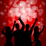 Dancing Disco Shows Parties Music And Dancer Stock Photo