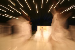 Dancing divas and pacy blurs Stock Images