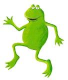 Dancing divertente della rana a sinistra Immagini Stock