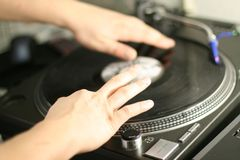 Dancing dj Royalty Free Stock Photography