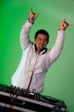 Dancing DJ Stock Photo