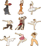 Dancing doodle Royalty Free Stock Photo