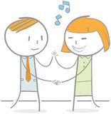 Business People Dancing Royalty Free Stock Image