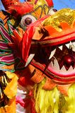 Dancing dragon. Chinese new year in Paris, 2014 Stock Images