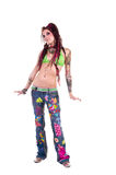 Dancing Dreadlock  Girl Royalty Free Stock Photos