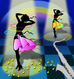 Dancing and dreaming Royalty Free Stock Photos