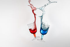 Dancing Drinks Royalty Free Stock Photo