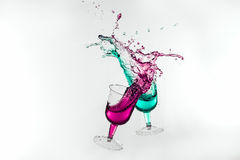 Dancing Drinks Royalty Free Stock Photography