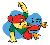 Dancing Duck Stock Photo